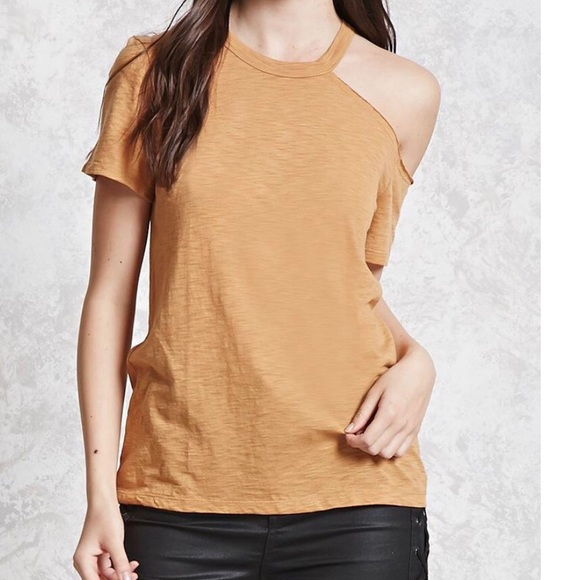 Forever 21 Tops - Forever21 Burnout Open Shoulder Tee